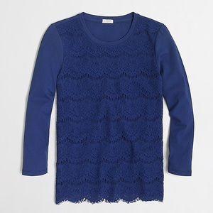 J. Crew factory lace blue shirt